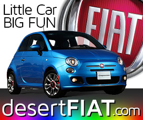 Desert Fiat Cars for the  fun of it