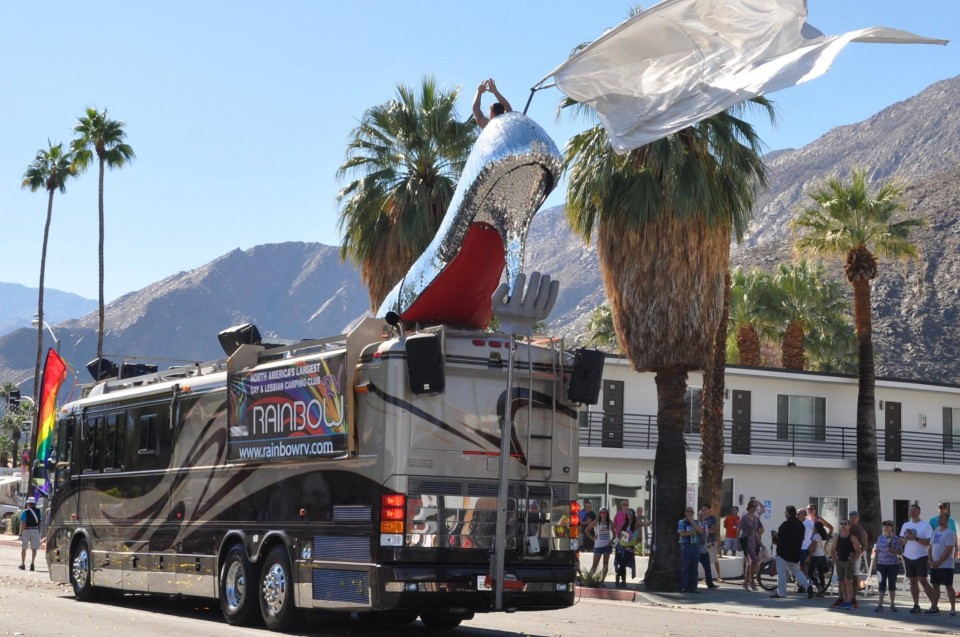 Palm Springs Pride Registration window is about to close; please make your reservations ASAP.  This year we will be entering the PS Pride Parade after a 1 yr. absence; come help us celebrate and volunteer to march along the Iconic Rainbow RV Priscilla Pride Float.